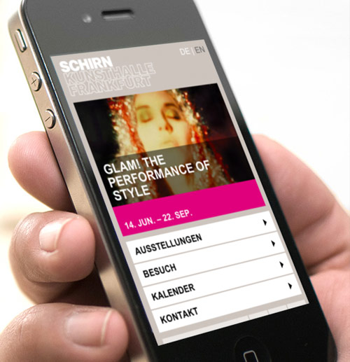 Schirn Kunsthalle – mobile Website
