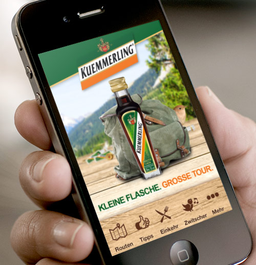 "Kuemmerling – Mobile App ""Unterwegs mit Kuemmerling"""