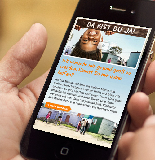 World Vision – mobile Website