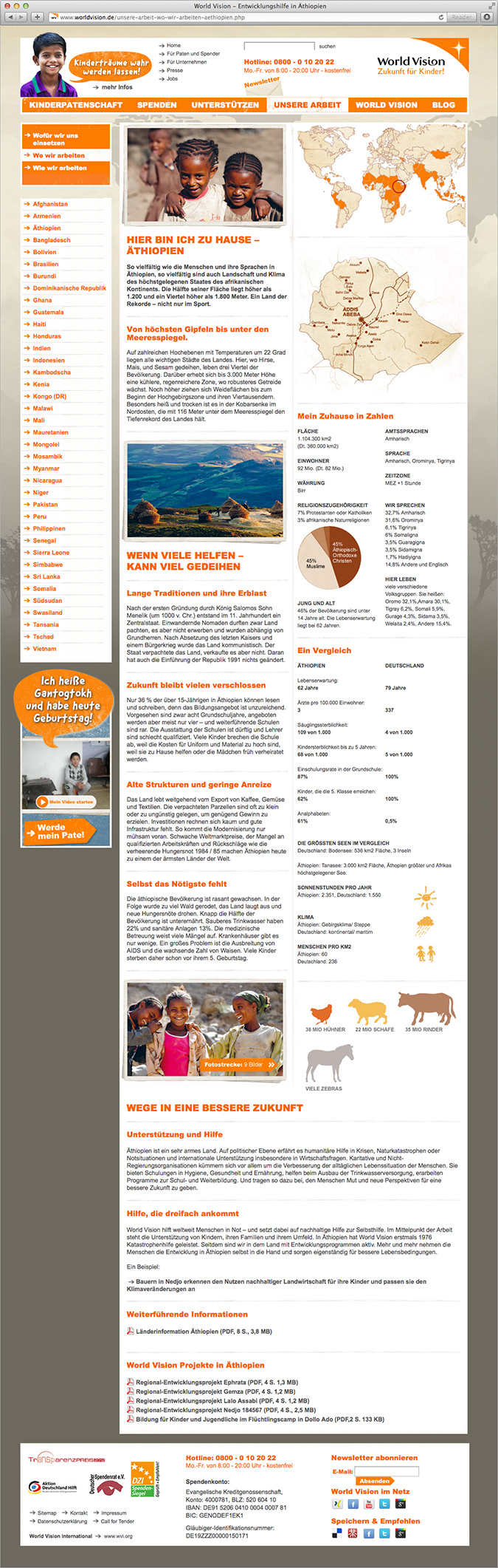 World Vision – Website